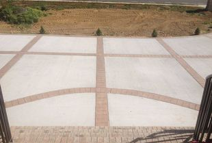 paver driveway and stairs being installed at a residence in va beach
