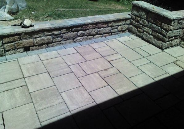 paver patio replacement, beautiful finish