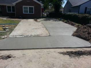 concrete driveway resurfacing work in progress in norfolk, va