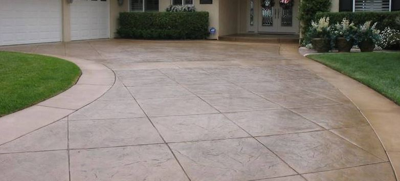 stamped concrete driveway we've installed at a residence in virginia beach