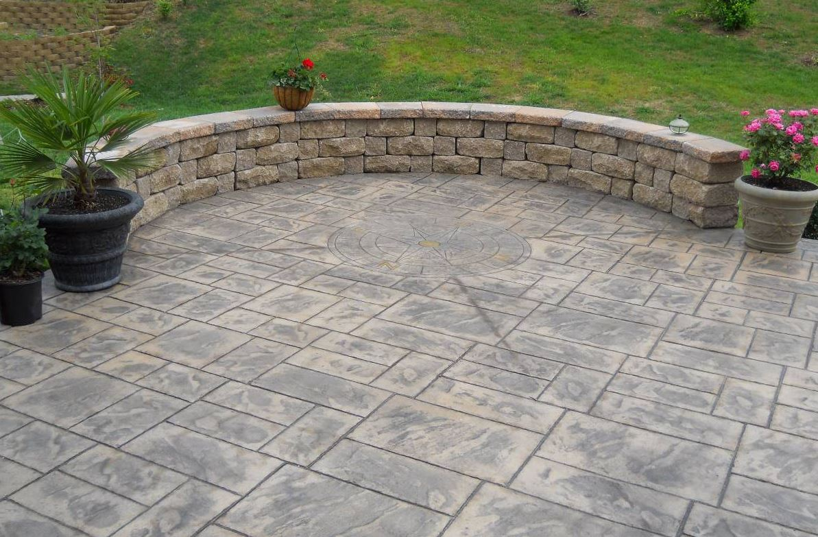 decorative, stamped patio with design, completed in norfolk, va